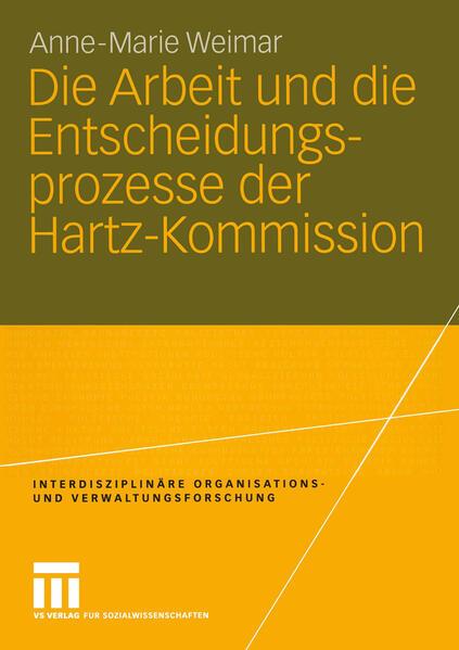 Die Arbeit und die Entscheidungsprozesse der Hartz-Kommission - Coverbild