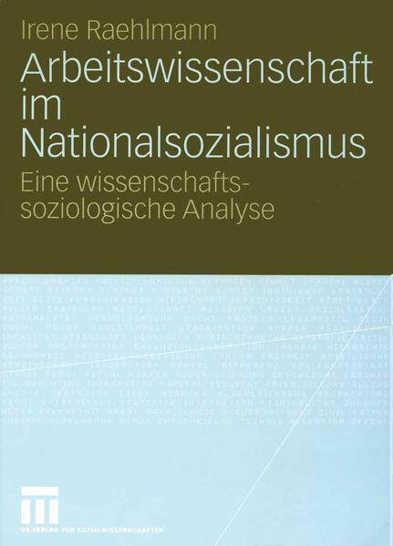 Arbeitswissenschaft im Nationalsozialismus - Coverbild