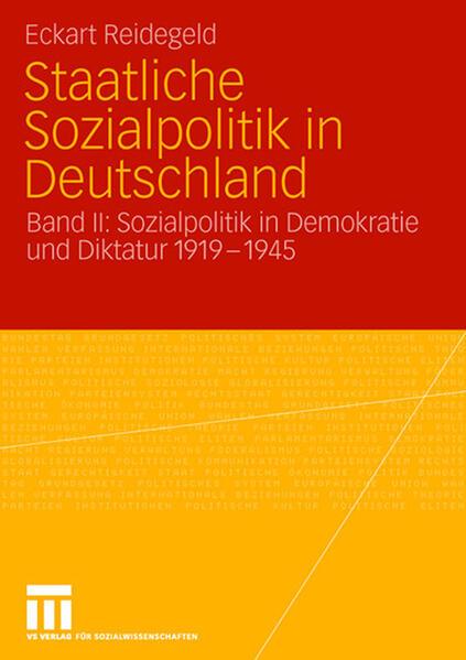 Staatliche Sozialpolitik in Deutschland - Coverbild