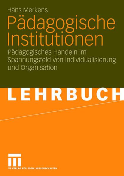 Pädagogische Institutionen - Coverbild