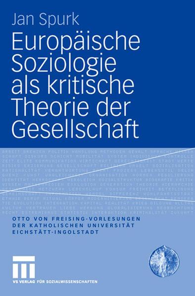 Europäische Soziologie als kritische Theorie der Gesellschaft - Coverbild