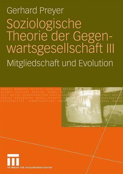 Soziologische Theorie der Gegenwartsgesellschaft III - Coverbild