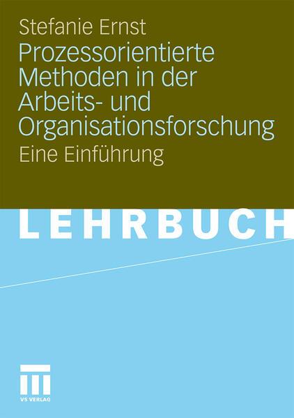 Prozessorientierte Methoden in der Arbeits- und Organisationsforschung - Coverbild