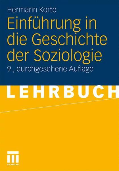 Einführung in die Geschichte der Soziologie - Coverbild