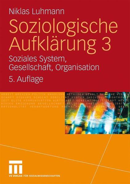 Soziologische Aufklärung 3 - Coverbild
