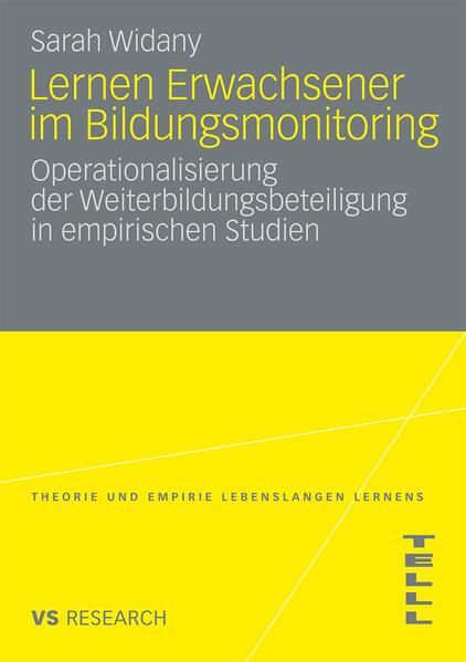 Lernen Erwachsener im Bildungsmonitoring - Coverbild