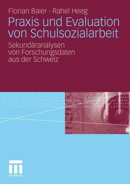 Praxis und Evaluation von Schulsozialarbeit - Coverbild