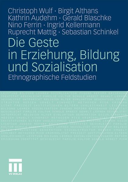 Die Geste in Erziehung, Bildung und Sozialisation - Coverbild