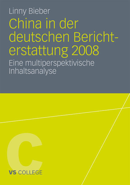 China in der deutschen Berichterstattung 2008 - Coverbild