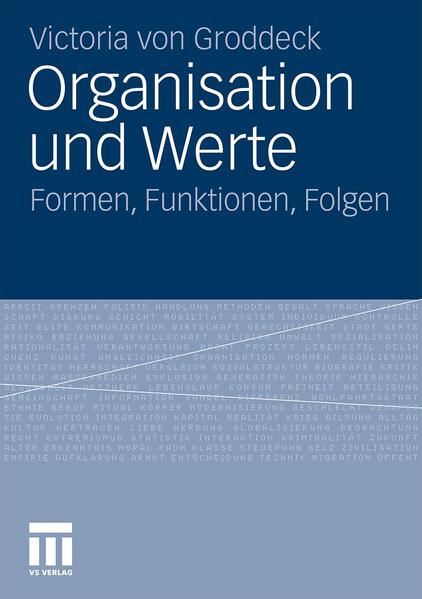 Organisation und Werte - Coverbild