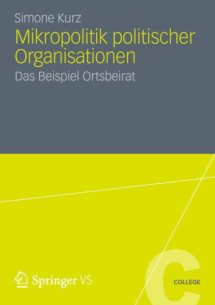 Mikropolitik politischer Organisationen - Coverbild