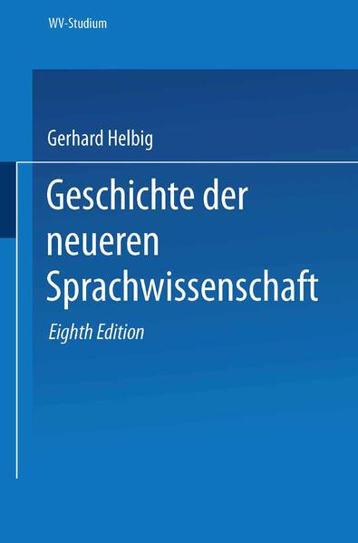 Geschichte der neueren Sprachwissenschaft - Coverbild