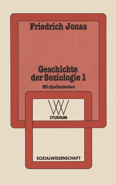 Geschichte der Soziologie 1 - Coverbild