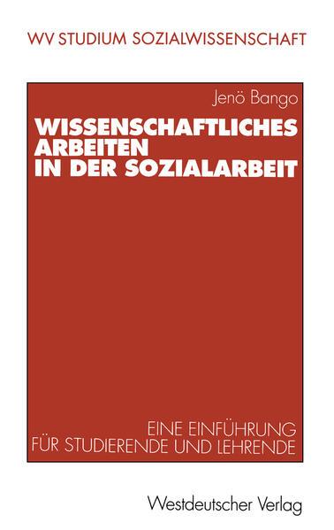 Wissenschaftliches Arbeiten in der Sozialarbeit - Coverbild