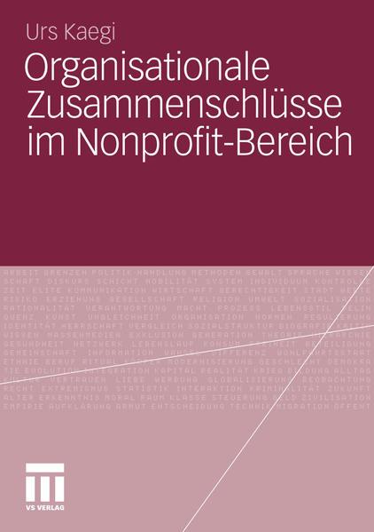 Organisationale Zusammenschlüsse im Nonprofit-Bereich - Coverbild