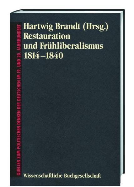 Restauration und Frühliberalismus 1814-1840 - Coverbild
