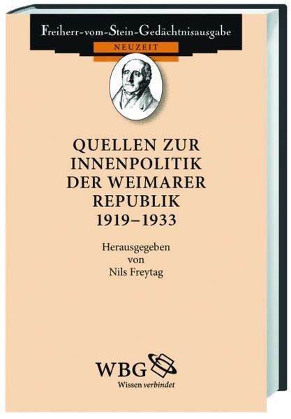 Quellen zur Innenpolitik der Weimarer Republik 1919-1933 - Coverbild