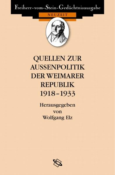 Quellen zur Außenpolitik der Weimarer Republik - Coverbild