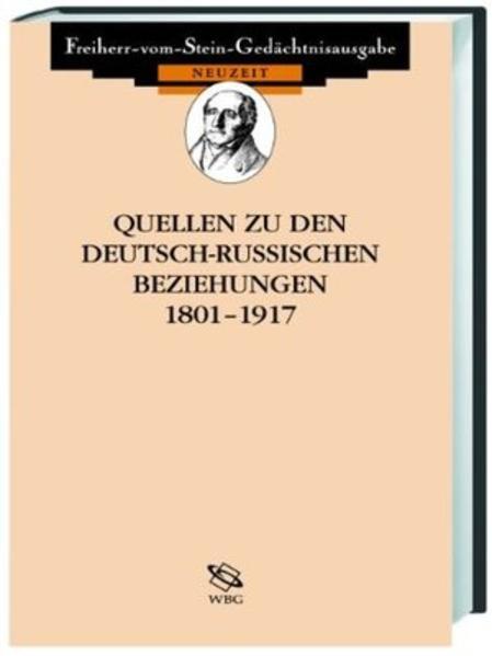 Quellen zu den deutsch-sowjetischen Beziehungen 1917-1945 - Coverbild