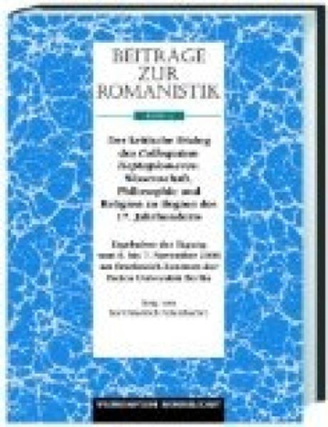 Beiträge zur Romanistik / Der kritische Dialog des Heptaplomeres - Coverbild