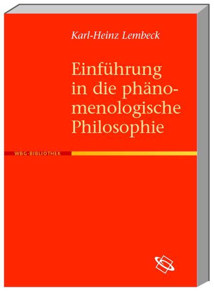 Einführung in die phänomenologische Philosophie - Coverbild