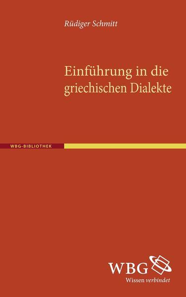 Einführung in die griechischen Dialekte - Coverbild