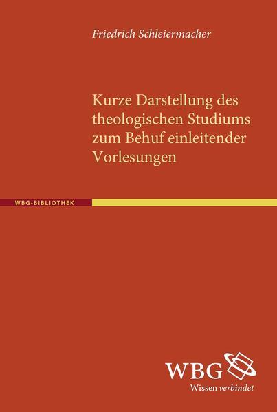 Kurze Darstellung des theologischen Studiums zum Behuf einleitender Vorlesungen - Coverbild