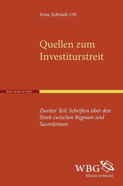 Quellen zum Investiturstreit. Zweiter Teil - Coverbild