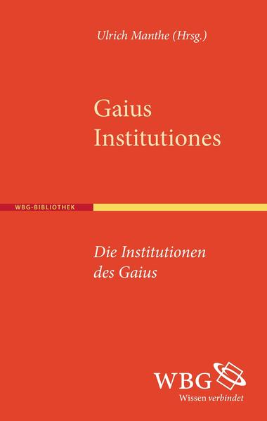 Institutionen - Institutiones - Coverbild
