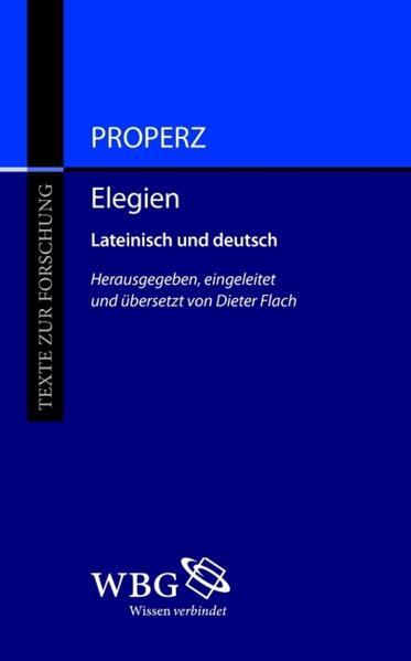Properz, Elegien - Coverbild
