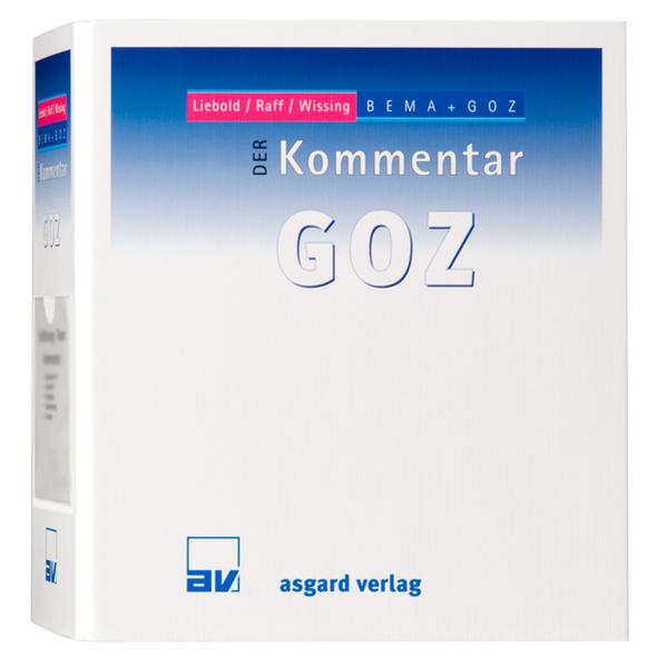 DER Kommentar GOZ, Gesamtwerk Stand 113. Lieferung, 07/2016 - Coverbild