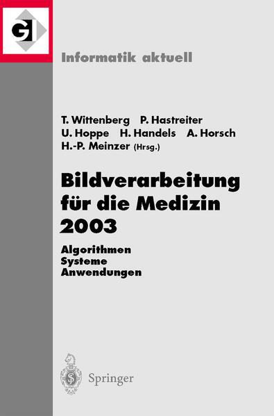 Bildverarbeitung für die Medizin 2003 - Coverbild