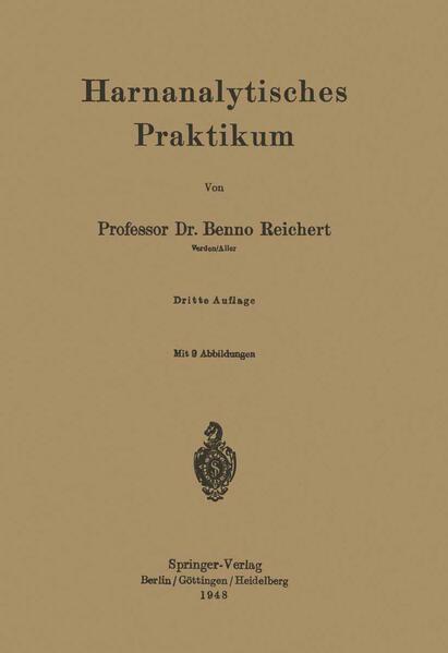 Harnanalytisches Praktikum - Coverbild