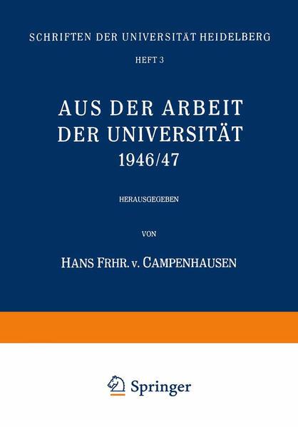 Aus der Arbeit der Universität 1946/47 - Coverbild