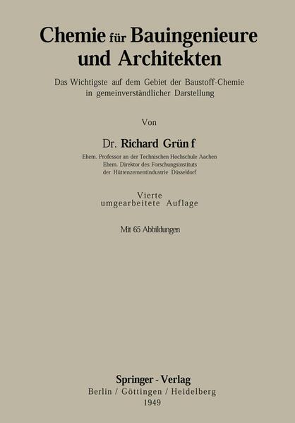 Chemie für Bauingenieure und Architekten - Coverbild