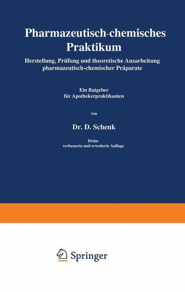 Pharmazeutisch-chemisches Praktikum - Coverbild