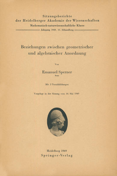 Beziehungen zwischen geometrischer und algebraischer Anordnung - Coverbild