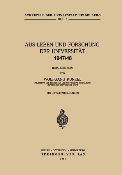 Aus Leben und Forschung der Universität 1947/48 - Coverbild
