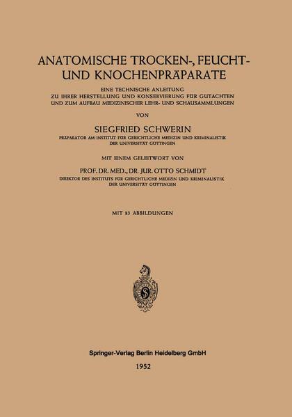Anatomische Trocken-, Feucht- und Knochenpräparate - Coverbild