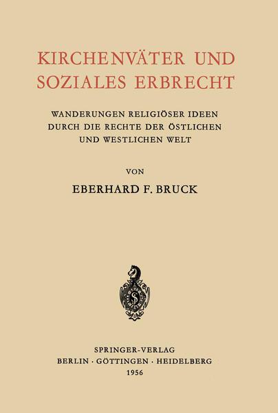 Kirchenväter und Soziales Erbrecht - Coverbild