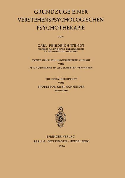 Grundzüge Einer Verstehenspsychologischen Psychotherapie - Coverbild