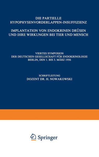 Die Partielle Hypophysenvorderlappen-Insuffizienz - Coverbild