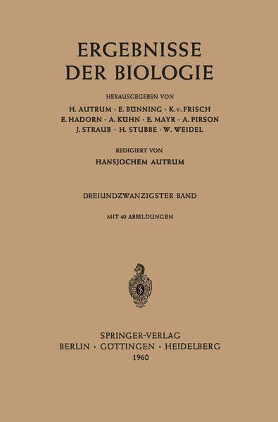 Ergebnisse der Biologie - Coverbild