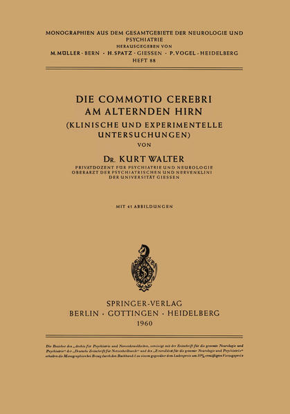 Die Commotio Cerebri am Alternden Hirn - Coverbild