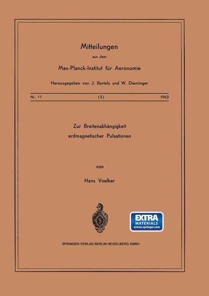 Zur Breitenabhängigkeit erdmagnetischer Pulsationen - Coverbild