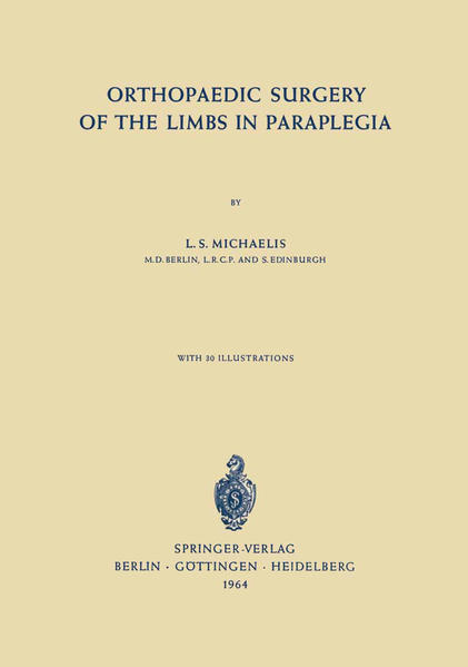 Orthopaedic Surgery of the Limbs in Paraplegia - Coverbild