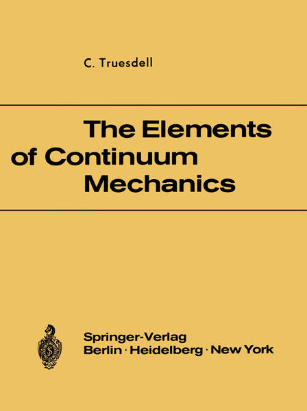 The Elements of Continuum Mechanics - Coverbild