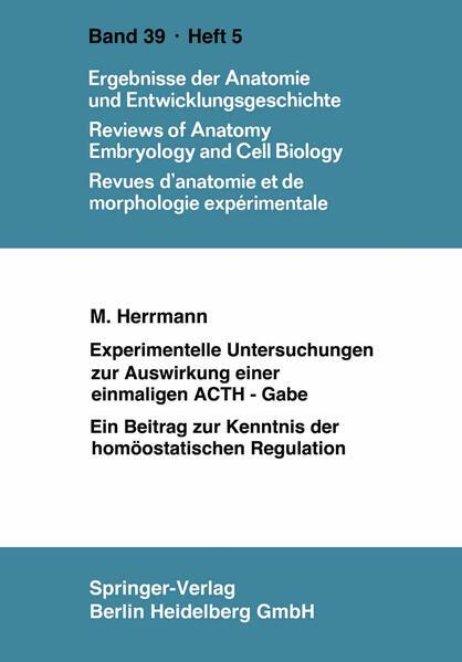 Experimentelle Untersuchungen zur Auswirkung einer einmaligen ACTH-Gabe - Coverbild