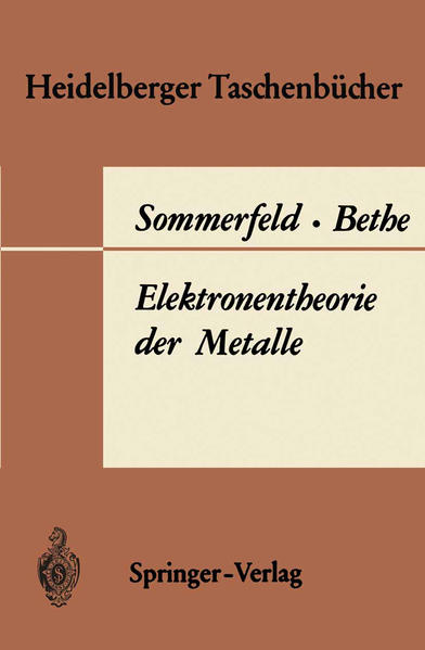 Elektronentheorie der Metalle - Coverbild