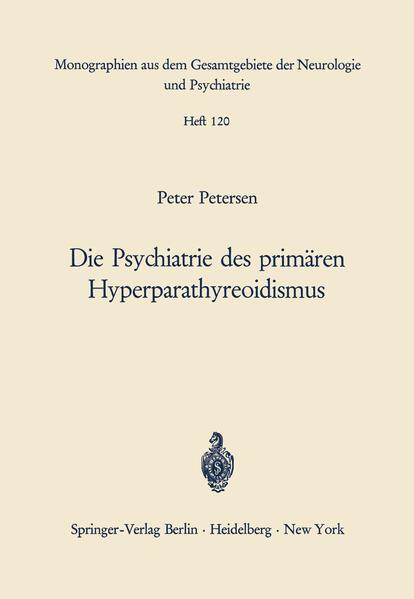 Die Psychiatrie des primären Hyperparathyreoidismus - Coverbild